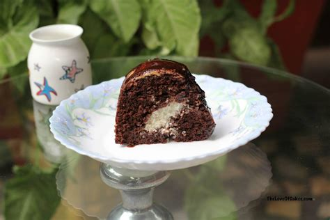 chocolate cake  coconut filling  love  cakes