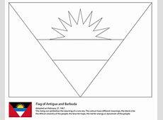 Flag of Antigua and Barbuda coloring page Free Printable