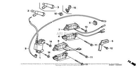 honda engines gx390u1 qxeb engine jpn vin gcank 1000001 parts diagram for ignition coil 1
