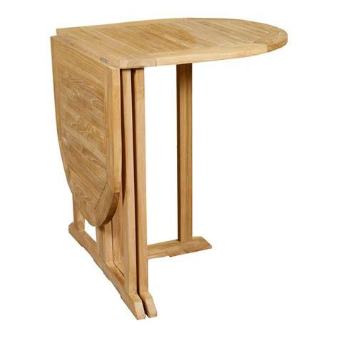 table en teck pliante table pliante ovale en teck 120x60 cm pour balcon