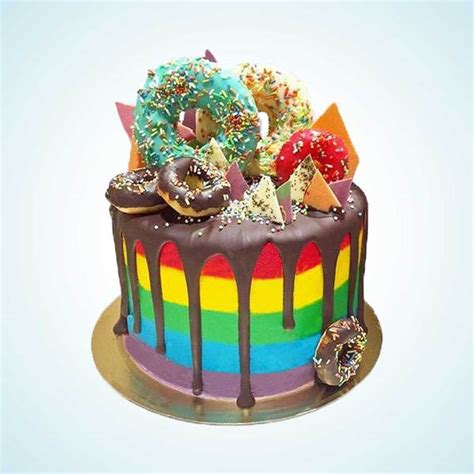 gaga rainbow celebration cake