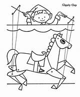Puppet Coloring Clop Clippity sketch template