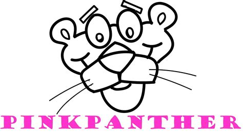 How To Draw And Color Pink Panther Coloring Pages For Kids