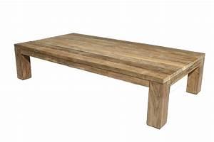 Table Basse Rectangulaire Bois : table basse en teck table basse grise pas cher trendsetter ~ Teatrodelosmanantiales.com Idées de Décoration