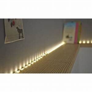 Kit ruban led 15m blanc chaud 3000k 290 lumens flexled for Carrelage adhesif salle de bain avec led plafond leroy merlin