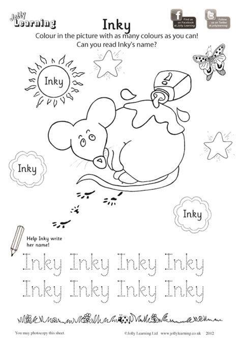 colouring worksheets jolly learning