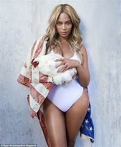 Beyoncé squeezes into swimsuit and flies American flag ...