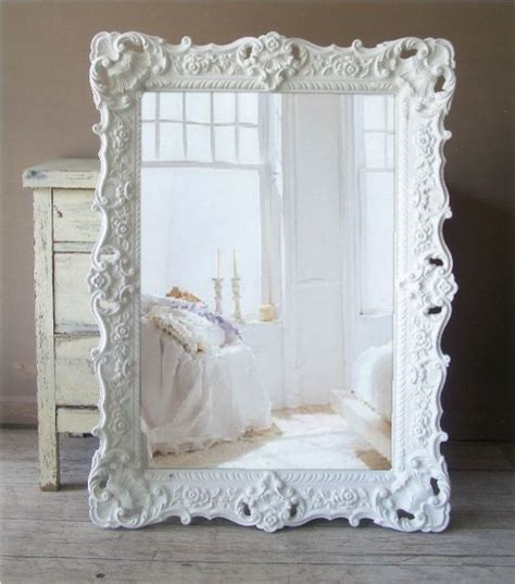 large shabby chic mirror white white baroque mirror large shabby chic mirror vintage 359 00 via etsy mirrors pinterest