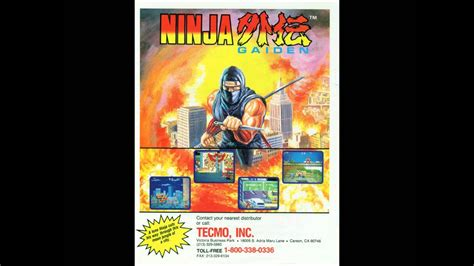 Ninja Gaiden Arcade Stage 1 Boss Bgm Youtube