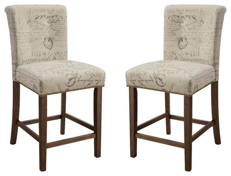 upholstered parson counter height dining chairs script