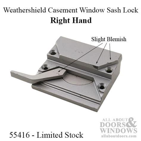 peachtree casement window sash lock  screw holes     hand
