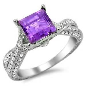 engagement rings with purple diamonds square cut purple amethyst engagement ring engagement rings review