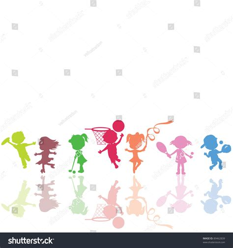 Play In Background Be Used Background Children Sports Stock Vector