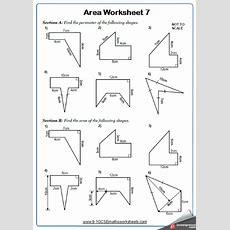 Area Worksheets Cazoomy