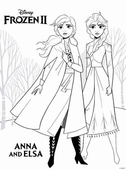 Elsa Frozen Anna Colorear Ausmalbilder Dibujos Coloring