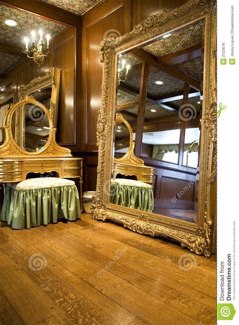 antique mirror  dresser stock photo image  candles