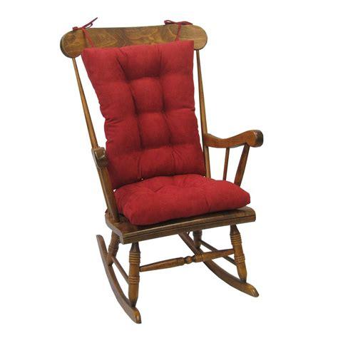 rocking chair cushion sets jumbo klear vu gripper twillo jumbo rocking chair cushion
