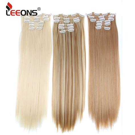 Leeons Set Hair 16 Clip In Hair Extensions With Clips
