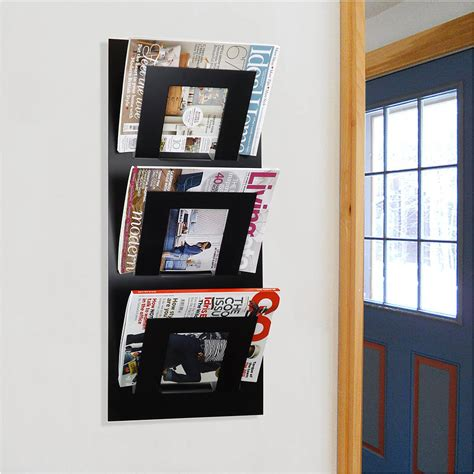 wall mount magazine rack wall mounted three tier magazine rack by the metal house