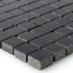 granite mosaic tiles black 15x15x8mm mt51291