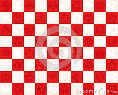 red  white checkered pattern     traditional