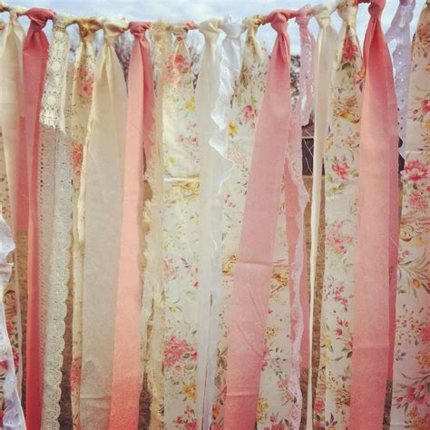 Backdrops How To Make by Fabric Scrap Garland Bridal Shower Diy Backdrop