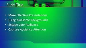 Free Green Tech Powerpoint Template