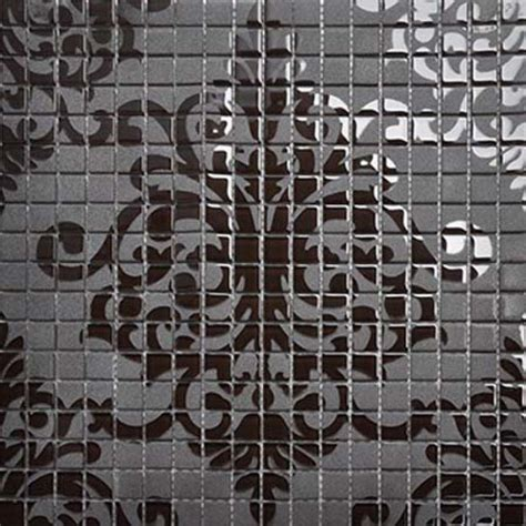 Black Glass Tile Murals Wall Stickers Plated Crystal