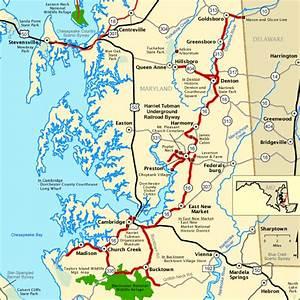Harriet Tubman Underground Railroad Byway - Map | America ...