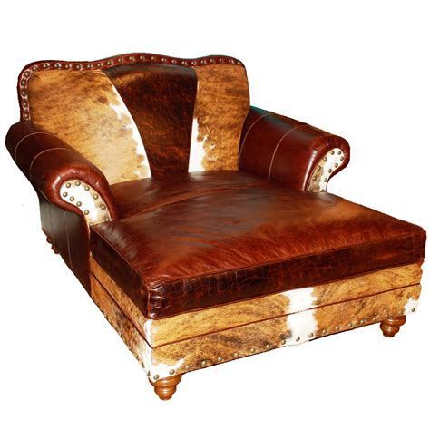 rustic brown leather chaise lounge with rolled armrest of impressive chaise lounge