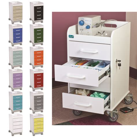 swivel casters practicon compact locking four drawer cart