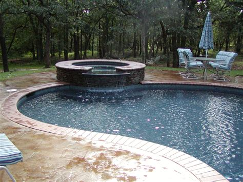 pool tubs pool and waterfall from tub redbud design