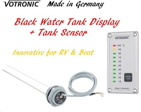 votronic black water tank level gauge meter monitor sensor rv camper van boat ebay