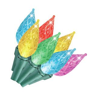 teardrop christmas lights diehard led faceted c6 tear drop lights multi colored 50 ct