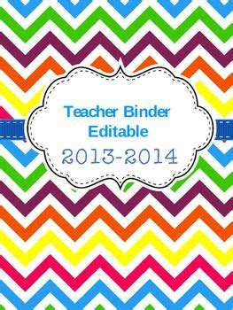 editable binder cover templates editable binder freebie no calendar included just section labels bright and cheery