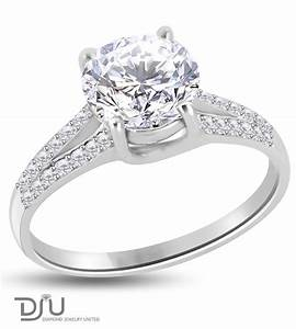 243 carat e vs2 round solitaire diamond engagement ring With 14 carat wedding rings