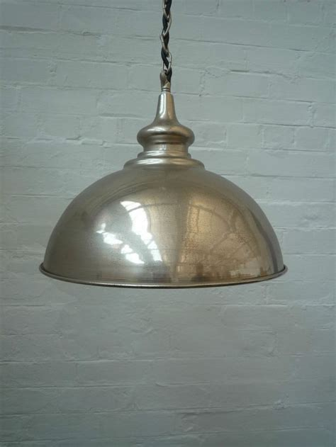 retro vintage metal industrial chrome pendant ceiling