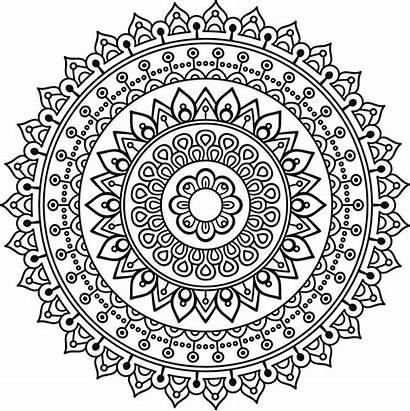 Mandala Abundance Stencil Coloring Stencils Mandalas Pages