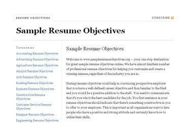 Resume Resume Objective Shooting For Goal Management