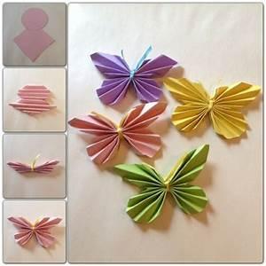 Schmetterlinge Aus Papier : die besten 17 ideen zu schmetterling falten auf pinterest ~ Lizthompson.info Haus und Dekorationen