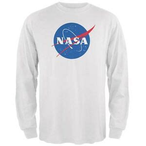 nasa logo white sleeve t shirt ebay