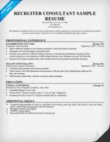 it recruiter resume format recruiter consultant resume resumecompanion resume sles across all industries