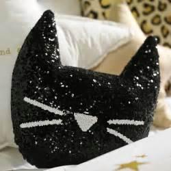 cat pillows the emily meritt sequin cat pillow pbteen
