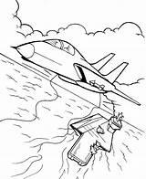 Coloring Fighter Pilot Veterans sketch template