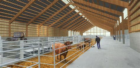 bureau etude batiment bâtiment d élevage expérimental laqueuille 63 fabriques