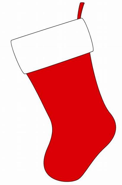 Stocking Christmas Clipart Template Stockings Paper Construction