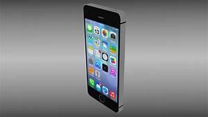Iphone 5S Black 3D Model OBJ BLEND | CGTrader.com
