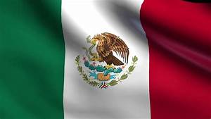 Flag Of Mexico Background Seamless Loop Animation Stock ...