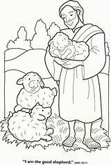 Coloring Shepherd Sheep Shepherds Popular sketch template