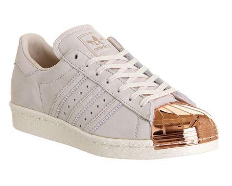 Adidas Superstar 80s Rose Gold Metallic White Leather
